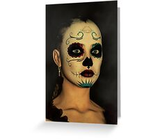 Sugar Skull - Day Of The Dead Face Paint Greeting Card