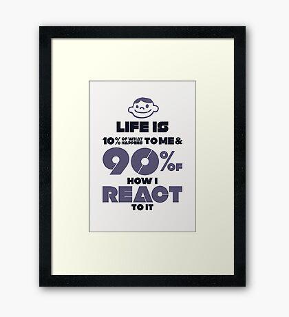 Macho Typographic Quote #2 Framed Print