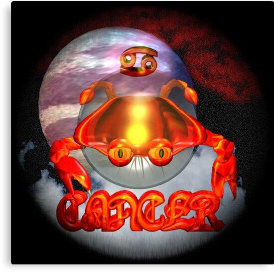 Cancer gothic zodiac astrology by Valxart by Valxart