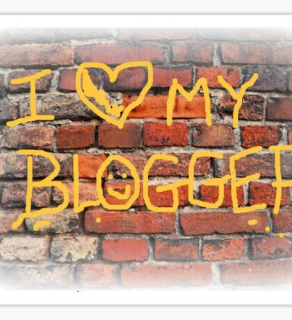 I Heart My Blogger Sticker
