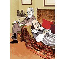 Freud analysing Shakespeare Photographic Print
