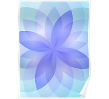 Case abstract lotus flower Poster