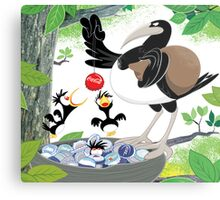 Thieving Magpies Metal Print