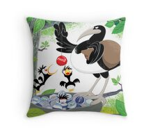 Thieving Magpies Throw Pillow