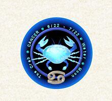 Cancer zodiac astrology by Valxart.com Hoodie