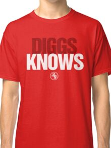 Discreetly Greek - Diggs Knows - Nike Parody Classic T-Shirt