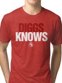 Discreetly Greek - Diggs Knows - Nike Parody Tri-blend T-Shirt