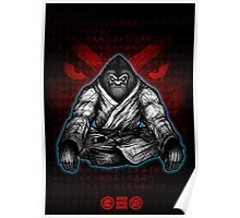 Black Belt Gorilla  Poster
