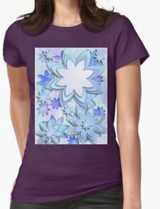 Case abstract lotus flowers Womens Fitted T-Shirt