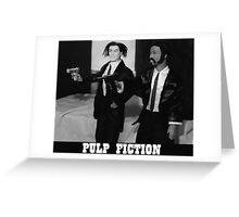 A Plastic World - Pulp Fiction Greeting Card