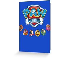 PAW PATROL TO THE RESCUE! Greeting Card