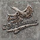 I Dig Dinosaurs Triceratops Skull Poster by MudgeStudios