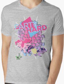 Pinkie Pie & Twilight Sparkle - Party Hard Mens V-Neck T-Shirt