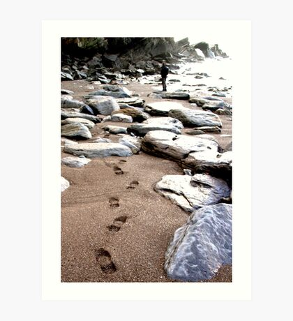 Lone Footprints Art Print