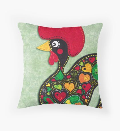 Barcelos Rooster  Throw Pillow