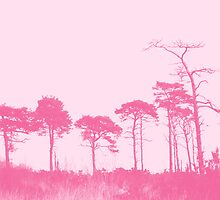Forest Trees in Pink by Natalie Kinnear