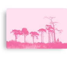 Forest Trees in Pink Canvas Print