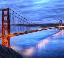 Golden Gate Bridge Oil Painting by Fred Seghetti