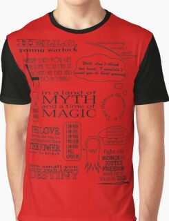 Merlin Quotes Graphic T-Shirt