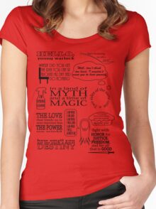 Merlin Quotes Women's Fitted Scoop T-Shirt