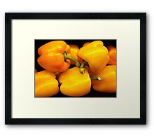 Perfect Yellow Peppers Framed Print