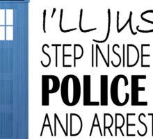 POLICE BOX - tardis Sticker