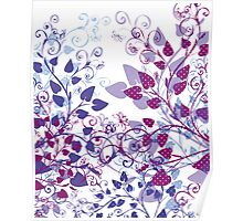 Floral Spring Violet Poster