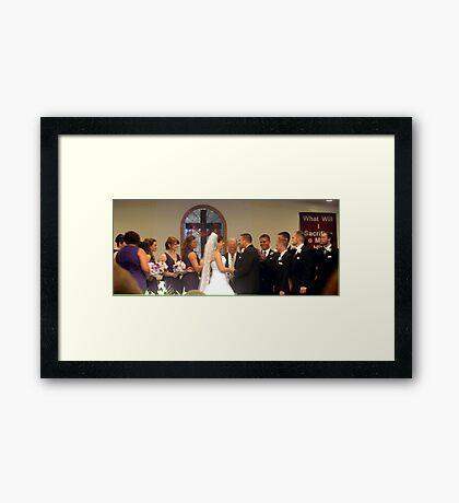 Wedding party Framed Print