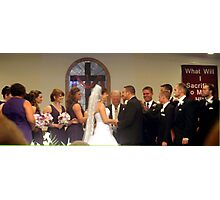 Wedding party Photographic Print