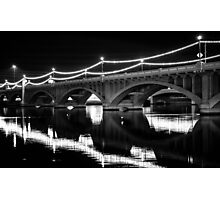 Lights on a Bridge Photographic Print