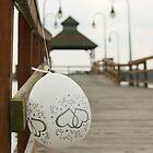 Wedding Balloon on Pier by BrianFitePhoto