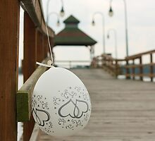 Wedding Balloon on Pier by BrianFitePhoto