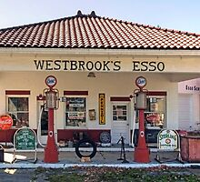 Westbrook's Filling Station by Gene Walls