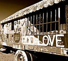 "Salvation Mountain ""GOD LOVE""  B&W California  by Jessica Karran"
