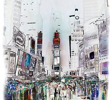 Rain In Times Square by Thomas Gehrke