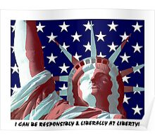 Liberty, responsibility Poster