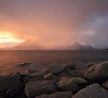 Loch Scavaig and the Cuillin Mountains by Maria Gaellman