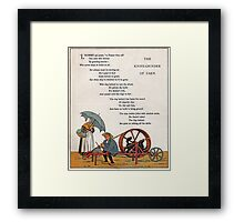 French Poem-Vintage School Book-Available As Art Prints-Mugs,Cases,Duvets,T Shirts,Stickers,etc Framed Print