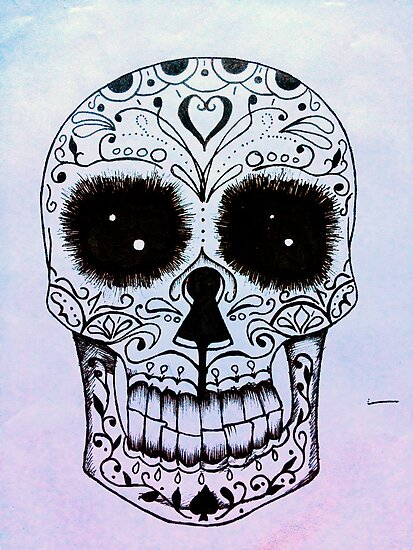 Day of the Dead skull by Vikterhugo