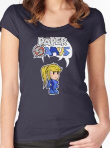 Paper Samus (Zero Suit Ver.) Women's Fitted Scoop T-Shirt