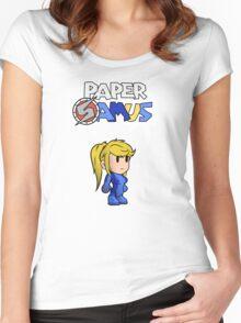 Paper Samus (Zero Suit Ver.) Women's Fitted Scoop T-Shirt