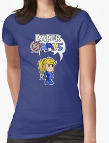 Paper Samus (Zero Suit Ver.) Womens Fitted T-Shirt