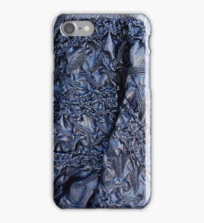 Blue Pleather  iPhone Case/Skin