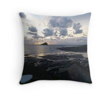 Surf Sunset Throw Pillow