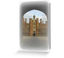 Clock Court Hampton Court Palace Greeting Card