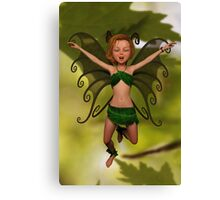 Fairy in Free-Fall Canvas Print