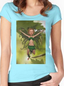 Fairy in Free-Fall Women's Fitted Scoop T-Shirt