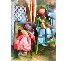 Two Rag Dolls at Flea Market Photographic Print