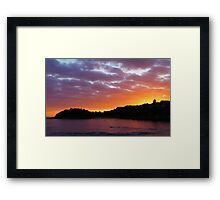 Shelly Beach Sunrise Framed Print