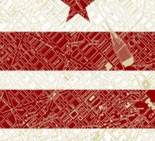 Washington DC Flag w/ Vintage Map  Sticker